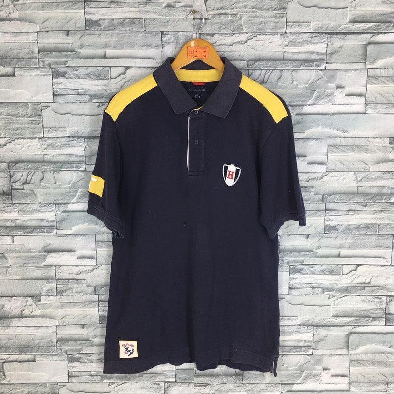 6a1826c66dada TOMMY HILFIGER Polo Shirt Large Vintage 90 s Tommy