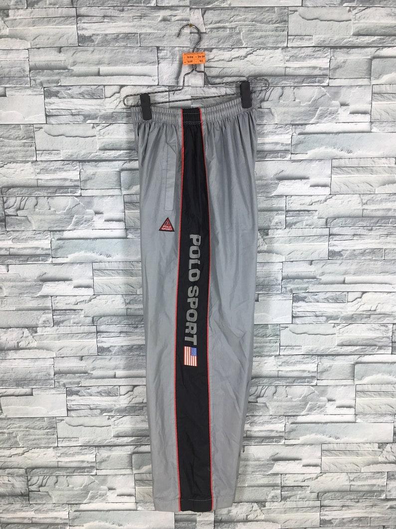 bf3616a28 POLO SPORT Nylon Pants Large Gray Unisex Vintage 90 s