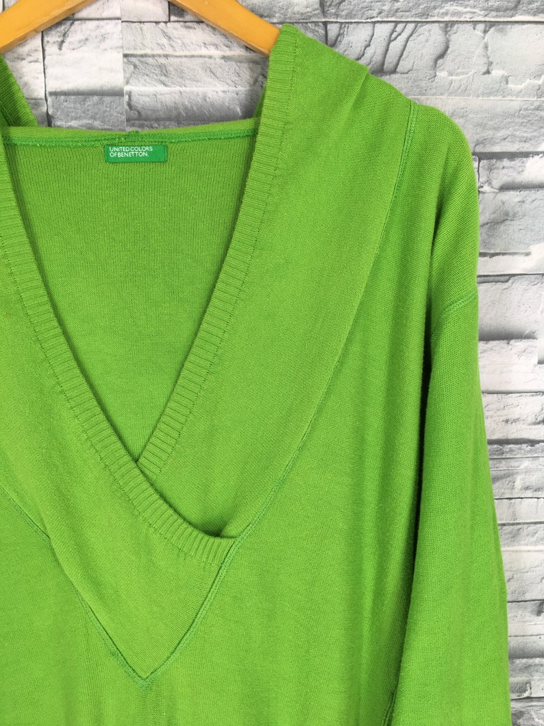 31665d4d4287d Benetton Colors Sweater Women Small Vintage United Colors Benetton Cardigan  Style Green Colour Pullover Size S