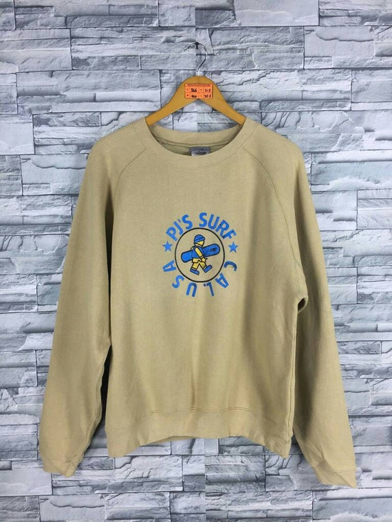PJ S SURF Design Men Medium Jumper Crewneck Vintage  6985fa81083