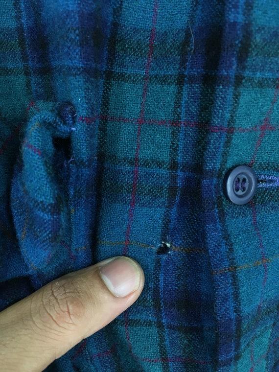 PENDLETON laine Usa Shirt unisexe moyenne Plaid à Oxford carreaux multicolore vert/bleu Vintage à carreaux ombre flanelle Oxford à Button Up Shirt taille M 2d83b9