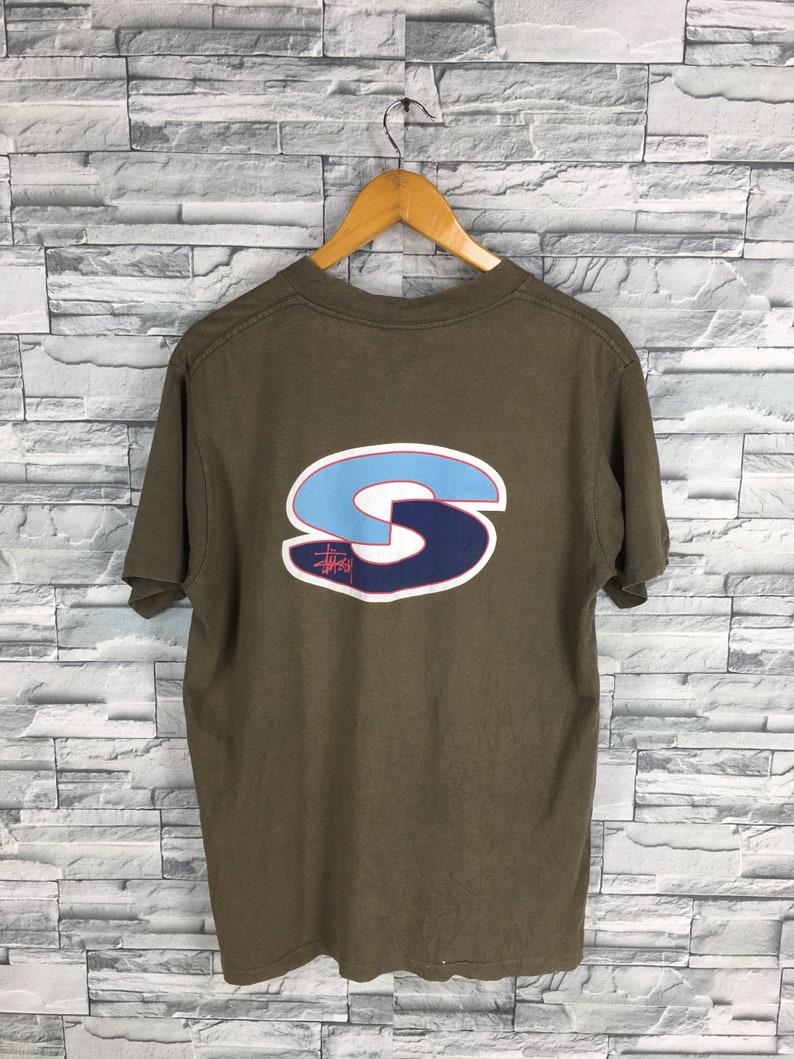 b00afbbc32 Vintage 90 s STUSSY T shirt Medium Stussy Usa Spell Out