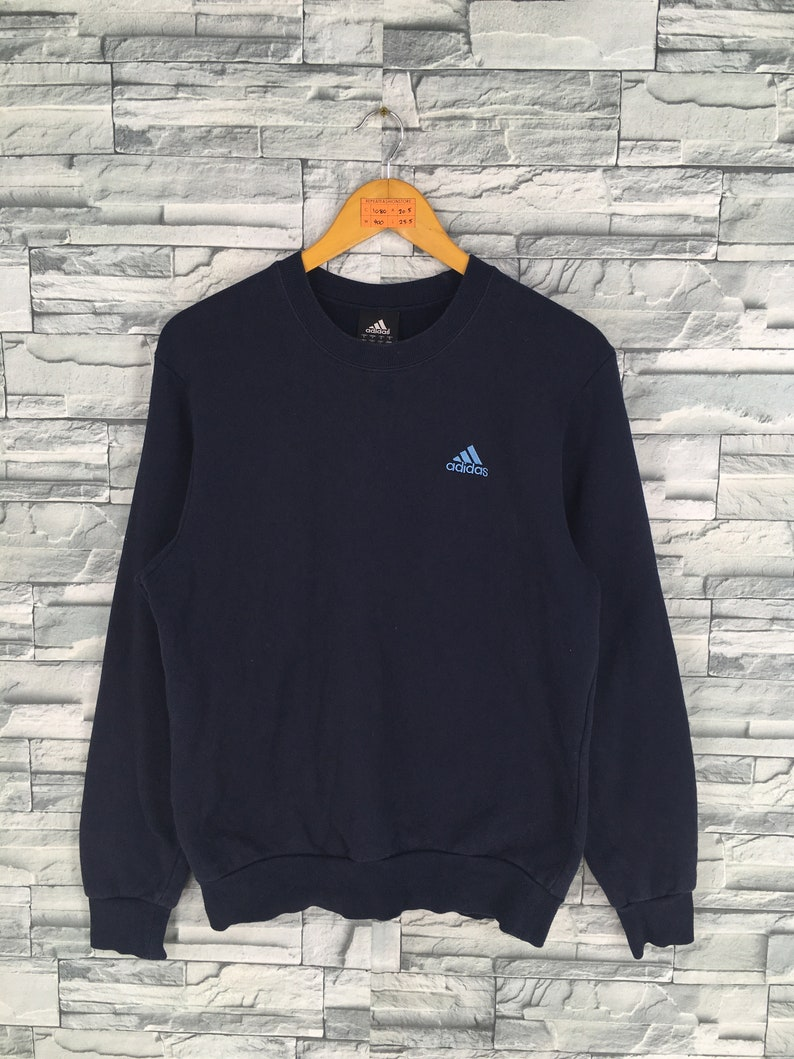 5ee993da8aabc Vintage 90's ADIDAS Sweatshirt Medium Adidas Equipment Sportswear Training  Apparel Crewneck Jumper Adidas Pullover Black Sweaters Size M