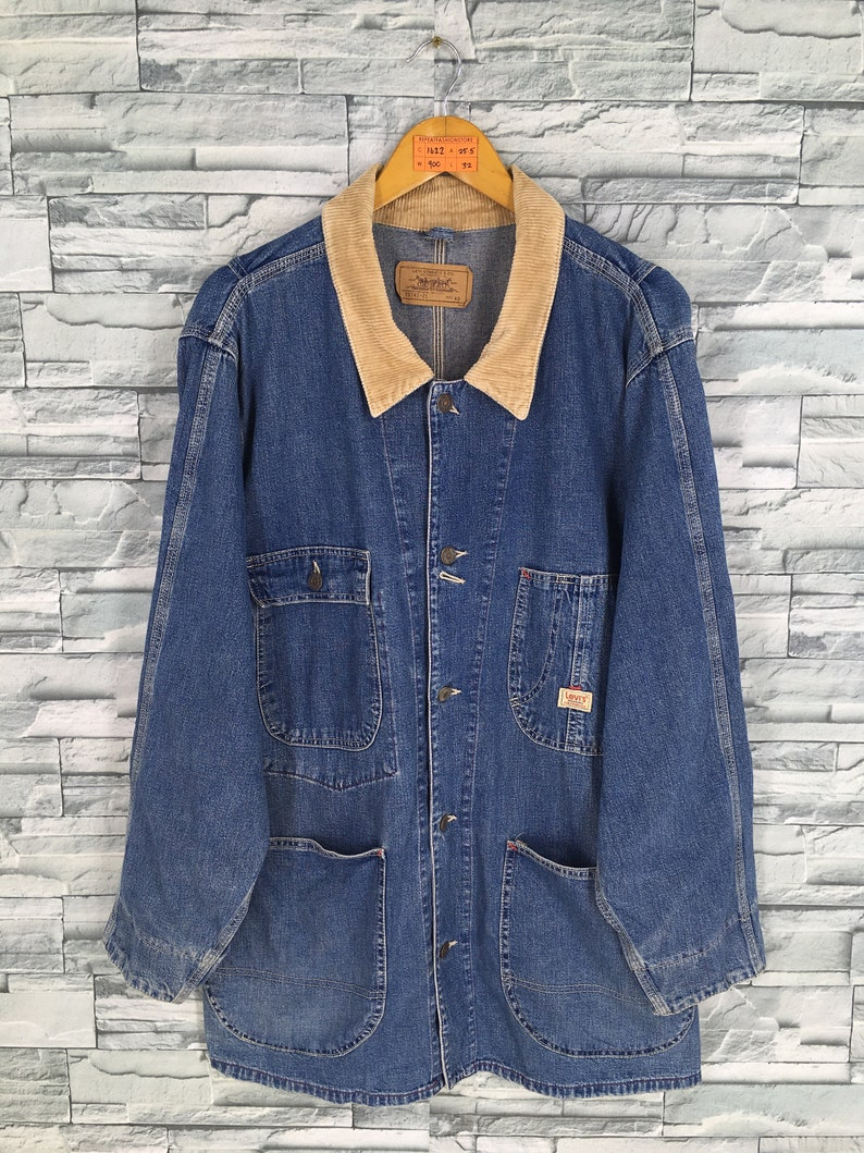 07a19067bf2 Vintage LEVIS STRAUSS Denim Jeans Jacket Xlarge 90's | Etsy