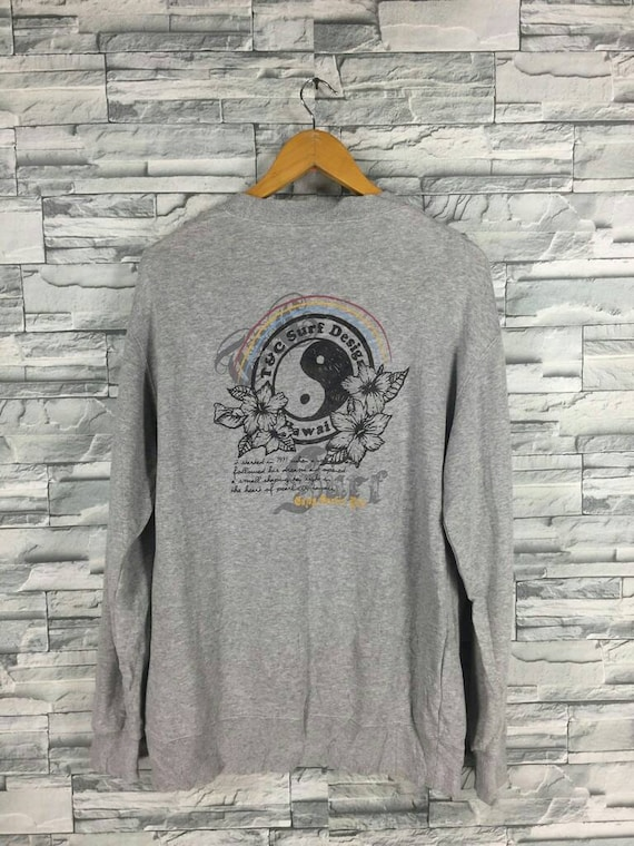 Vintage 90 s T C Surf Design Medium Jumper Crewneck Surf  a873b941f01