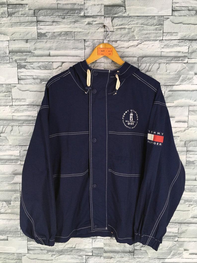 2d975f3a3b3d81 TOMMY HILFIGER Jacket Blue Medium Vintage 90's Sportswear | Etsy
