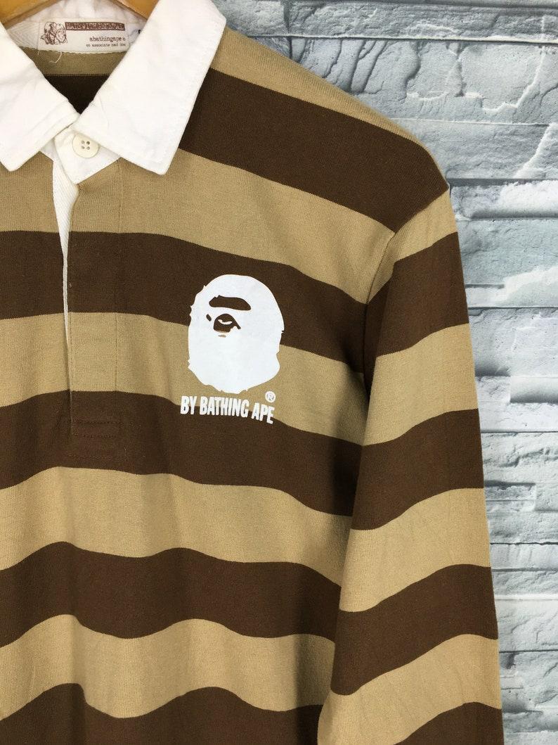 815ca926 A BATHING APE Polo Rugby Shirt Small Nigo Japan Bape   Etsy