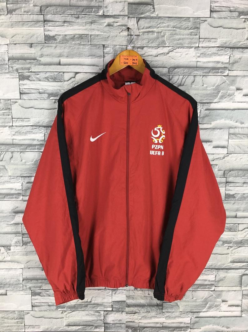 e812b5fdfe2b Vintage 90 s NIKE Windbreaker Jacket Large Red Nike Swoosh