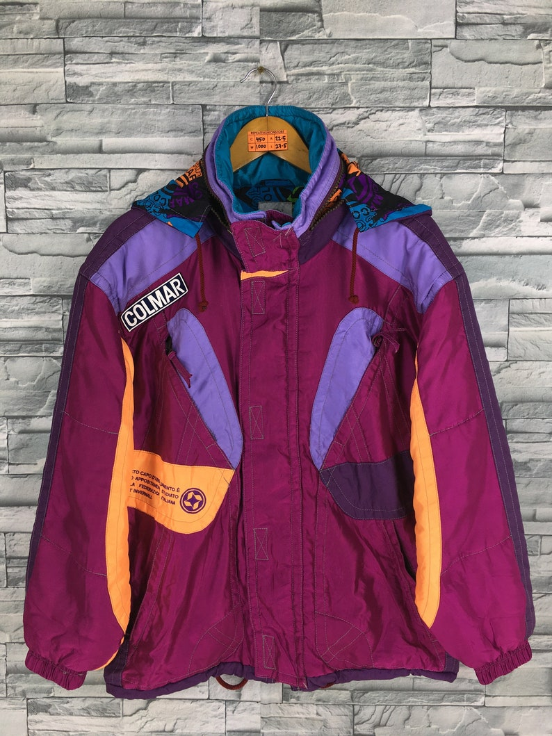 31840c2cc60b02 COLMAR Italy Multicolor Bomber JACKET Medium Vintage Ski Wear