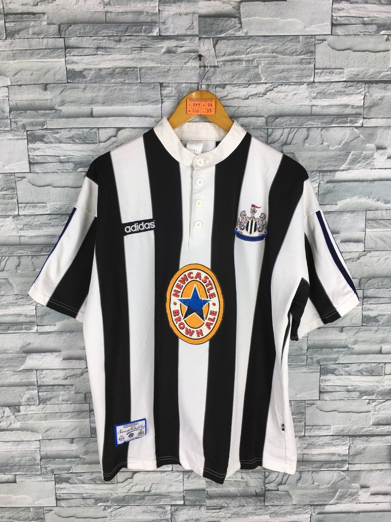 a990bd6d3 NEWCASTLE UNITED Jersey Large Vintage 90's Adidas | Etsy