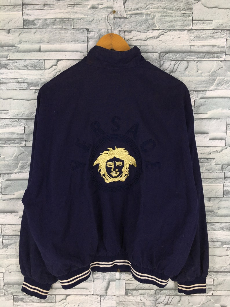 35f5e39069c12 VERSACE Jeans Couture Jacket Large Men Women Dark Blue Gianni