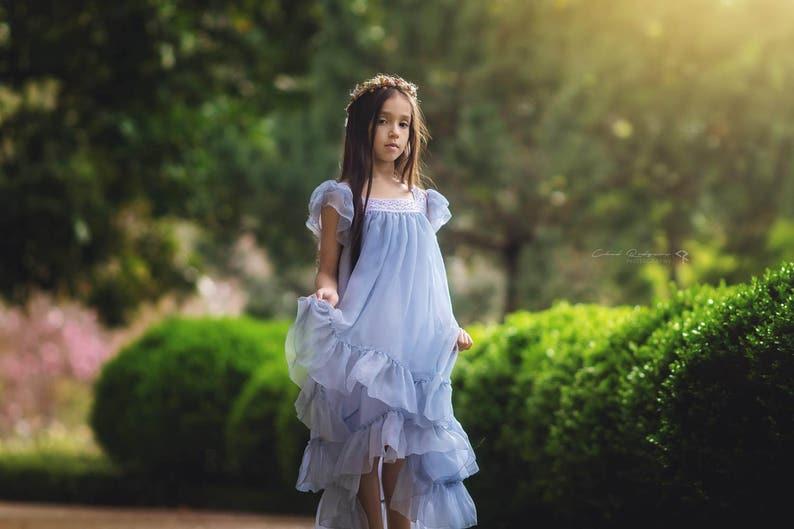 f7601a582 Vintage vestido romántico para niñas sesión de fotos
