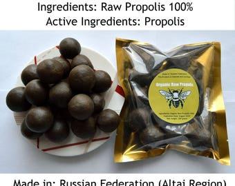 Organic Siberian Raw Propolis 1.76 oz(50 grams)-35.27 oz (1 klograms). Summer 2018. From Altai Region of Russian Federation
