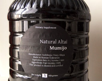 BULK WHOLESALE Altai Shilajit 5.5Lb (2.5 Kilograms) Authentic Pure Mumijo. Made in Altai Region of Russian Federation, Moomiyo, Mumie,Mumio
