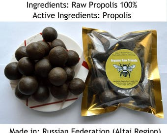 Organic Siberian Propolis 14.11 Oz (400 grams). Raw. Fresh Stock 208 Summer. Excellent Quality. Origin From Altai Region of Russia