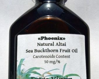 Extra Virgin Siberian Sea Buckthorn Oil 3.52-8.8 fl oz (100-250 ml). Carotenoid Concentration 50 mg/%. 2017 Harvest. Made in Altai Region