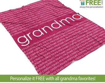 personalized blanket for grandma etsy