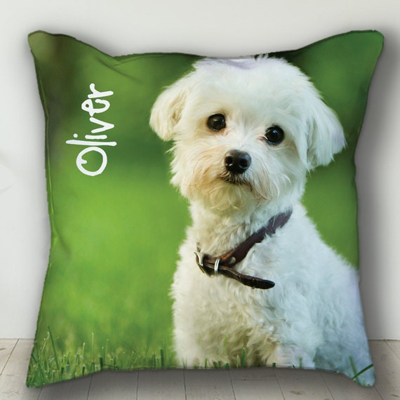 91964b97ed3c Custom PERSONALIZED Pet Pillow Personalized Dog or Cat Photo | Etsy