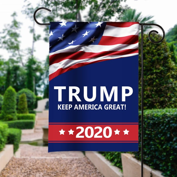 Trump 2020 Keep America Great Garden Flag Doble Sided USA SHIPPER