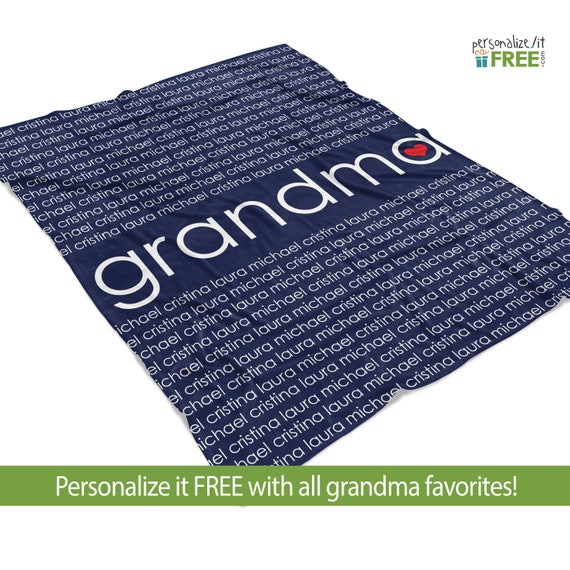 Personalized Keepsake Blanket Grandma Family Fleece Blanket Etsy Simple Grandmother Throw Blanket