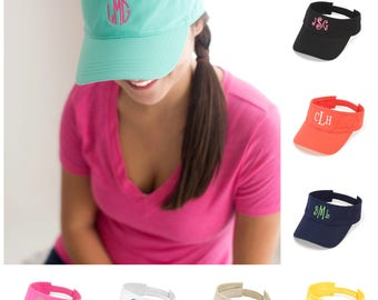 Monogram Sun Visor, Monogram Cap, Bridesmaid, Sun Visor, Mongram Gift, Personalized Hat, Cap with Monogram, beach hat monogram, boat hat