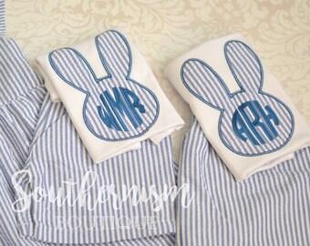 Easter Shirt, Boys Easter Shirt, Monogram Easter Shirt, Seersucker Monogram, Baby Easter, Personalize Easter Shirt, Navy Seersucker Shirt