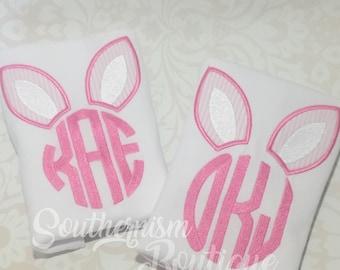Girls Easter Shirt, girls Easter Shirt, Monogram Easter Shirt, Personalized Easter Shirt, Gingham Easter , Girl Easter, Pink Gingam, pink