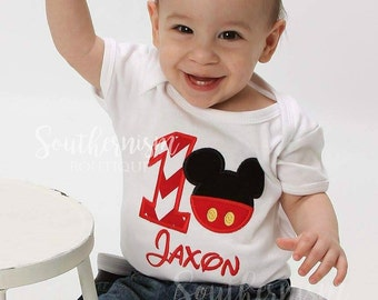First Birthday Shirt, Mouse first Birthday, Disney, First Borthday Boy, Twin Birthday, Birthday, Mickey first, birthday shirts, matching