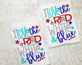 Kids July 4th, 4th of July, Patriotic, Military coming home, love, red white and blue, Patriotic, boutique shirt, personalized, monogram