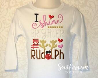 Christmas Shirt, Girls Christmas, custom embroidery, girly girl, Holiday shirt, personalized, monogram christmas, sibling christmas