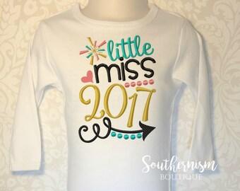 Girls New Year Shirt, New Year Outfit, Little Miss New Year, New Years Shirt, Personalized New Year Shirt,girls shirt, babys first new
