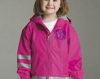 Toddler Jacket, Kids Rain Coat, Personalized Rain Coat, Charles River, Monogram Charles River,  Monogram Rain Coat, Monogram Rain Jacket