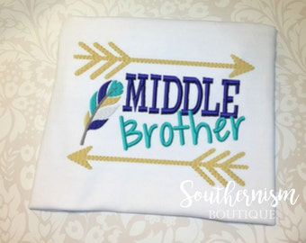 Middle Brother Shirt, Baby announcement, Big Brother Shirt, sibling announcement, biggest brother, Sibling Shirts, coming soon, baby