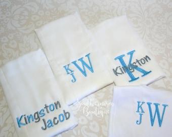 Baby Gift, Burpcloth, Baby Bib, Baby Shower Gift, Monogram Baby Gift, Monogram baby bib, Monogram infant.