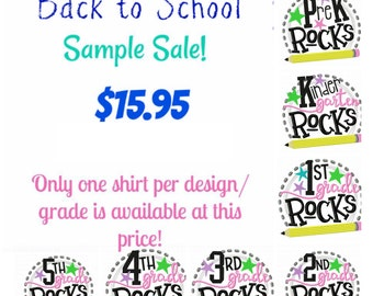 School Shirt,Back to School Shirt, PreK shirt, First Grade Shirt, second grade shirt, kindergarten shirt, personalized, third grade shirt