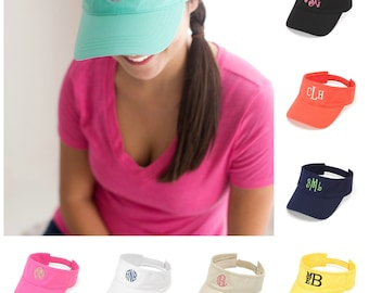 Monogram Sun Visor, Monogram Cap, Personalized Sun Visor, Bridesmaid, Bridal Party gift, Mongram Gift, Personalized Hat, beach hat, boat hat