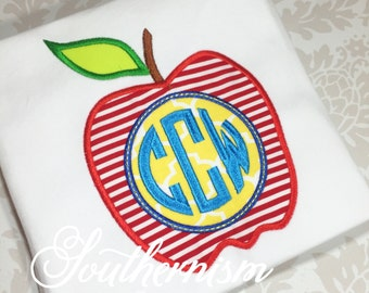 Back to School Shirt, Boys Back to school, back to school monogram, boys monogram, apple shirt, first day of school!
