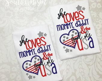 4th of July Shirt, Girls 4th of July, Shirt, Fourth of July shirt, Memorial Day Shirt, flag shirt, patriotic shirt, personalized 4th shirt