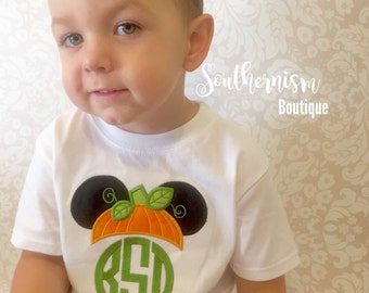 Fall Shirt, Boys Fall Monogram, Personalized Halloween Shirt, Boys Halloween Shirt, Mouse Halloween Shirt, trick or treat shirt, girls