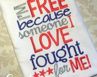 4th of July Shirt, Boys 4th of July Shirt, Fourth of July shirts,  military appreciation, patriotic shirt, personalized 4th shirt! sibling