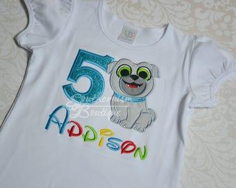 Puppy Pals, Birthday Shirt, Bingo Shirt, Ollie Shirt, Personalized, Puppy Birthday, Ollie Birthday, Bingo Birthday Shirt, Puppy pals shirt