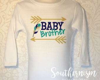 Baby Brother Shirt, Baby announcement, New Brother Shirt, sibling announcement, Baby brother, Sibling Shirts, coming soon, baby brother set