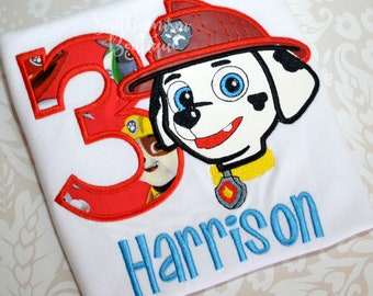 Paw Patrol Shirt, Birthday Shirt, Boys Birthday, Marshall Shirt, Marshall Birthday Shirt, Marshall Puppy, Dog Birthday Shirt, Puppy Birthday