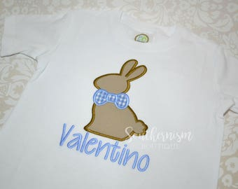 Easter Shirt, Boys Easter Shirt, Monogram Easter Shirt, Personalize Easter Shirt, Gingham Easter Shirt, Chocolate Bunny Shirt!