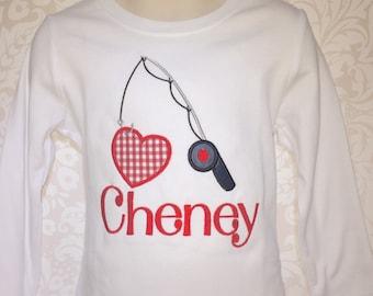 Valentine Day Shirt, Boy Valentines Day, Fishing Valentines Day Shirt, Gingham Valentines Day, Boys Valentine Shirt, fishing shirt