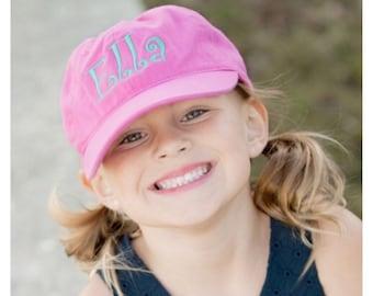 Monogram Hat, Monogram Cap, kids Cap with monogram, Monogram Gift, Monogram ballcap for kids, personalized Hat