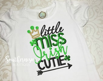 St Patricks Day Shirt, Girls St Patricks, St Pattys, Irish Cutie, Irish Shirt, St Pattys Shirt, monogram, personalized, first st pattys