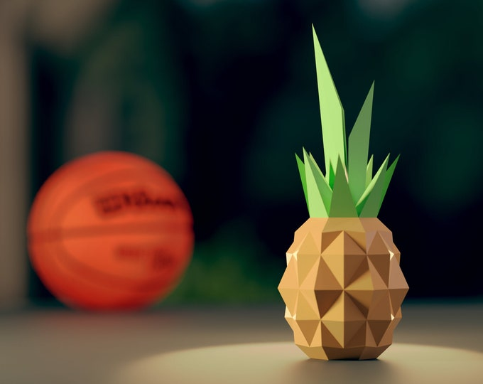 Pineapple Papercraft Template