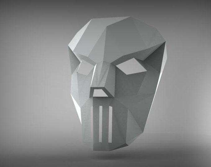 Printable Paper Model Of Casey Jones Mask 3D Papercraft Model - Download PDF Template - DIY Decoration