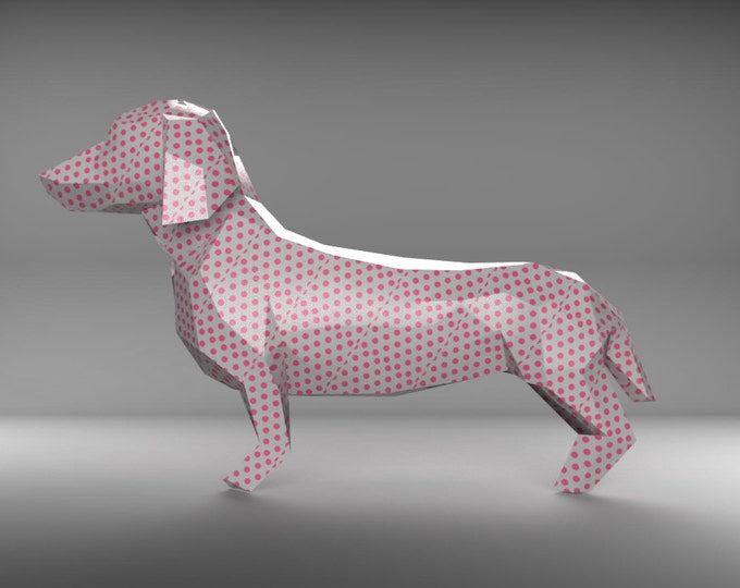 DACHSHUND - Make your own geometric model using PDF template